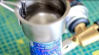 用废弃易拉罐打造的火炬, 还能用来烧水, 佩服小伙的脑洞!