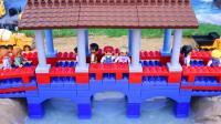 用积木建一座中国风的古桥