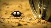 蜘蛛开易拉罐