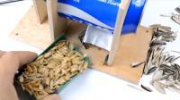 吃瓜子剥壳太麻烦? 教你一招, 用易拉罐简单做出剥壳机!