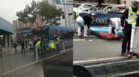 黄山女子骑车走斑马线 遭公交车撞飞身亡