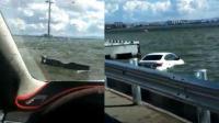 男子疑感情问题开车冲进滇池 水没头时获救