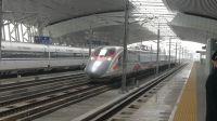 "G6583次列车搭载港铁""动感号""CRH380A型车底,下行高速通过虎门站!"