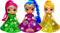 芭比娃娃装扮秀: 用彩泥为3个迪士尼公主打造闪亮裙!