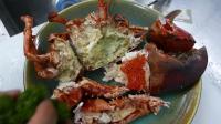 韩国街头小吃-大虾生鱼片辣酱