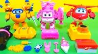 超级飞侠玩具视频:乐迪小爱3种玩具套装改造