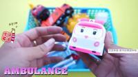 玩玩具 认识消防车超重机直升机等多种交通工具 家中的美国学校