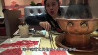 """到北京吃第一顿饭""""东来顺火锅"""", 点了158元套餐, 看这个量多大"""