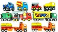 认识挖掘机等各式工程车玩具
