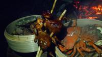 这才是享受生活, 和三两个好友去野外, 采蘑菇狩猎捕螃蟹露营