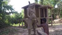 原始技术, 用粘土塑造人像