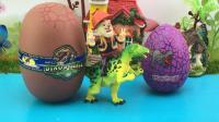 拆恐龙玩具蛋光头强拼侏罗纪积木恐龙玩具