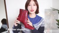 红色仿鳄鱼纹短靴分享, 漆皮设计比较亮眼, 舒适度很好