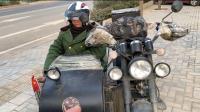 自驾游摩托车旅行陕西西安, 翻越秦岭摩托车没油了! 只能滑下来