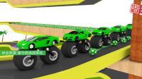 有2个车轮的超级跑车排队通过染色池 家中的美国学校