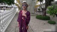 开车去非洲:情侣参观泰国的白庙,泰式建筑真的好漂亮!