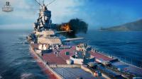 比辽宁舰还大的战舰, 9门主炮发出怒吼, 后坐力带动船体退后数米