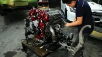 大保养一台GT-R发动机, 全程高能, 一启动果然名不虚传