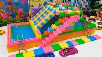 乐高积木玩具视频 小猪佩奇的水上游乐园