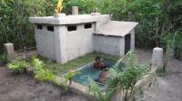 荒野生存 野外求生 原始技能 之建造漂亮的游泳池