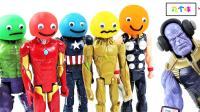 亲子英语-跟着超级英雄玩具和橡皮泥奇趣蛋学习颜色的英语