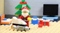 定格动画-乐高城市故事之乐高小人假扮圣诞老人到银行