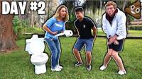 老外奇葩挑战, 让五位小哥两天不上厕所, 胜利者将获得10万美元!