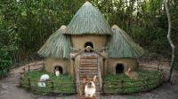 原始技术, 户外给兔子建造小屋, 放大版绝对是很好的庇护所!