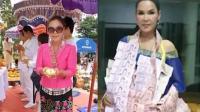 泰国女歌手寺庙做功德 狂撒现金引民众哄抢