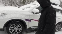 自驾游路上遇到下大雪了, 我们的车没有雪地胎, 这可怎么办呐