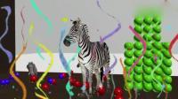 益智动画英语早教, 3D木锤敲彩球砸碎彩球瓶救出大象斑马老虎狮子