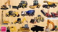 剪影拼图认识15种工程机械车 家中的美国学校