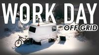 冬季露营-离网工作日, Elsa与她13英尺小房车的旅行故事