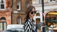 八卦:戚薇漫步伦敦街头 黑白造型简约潇洒