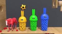 宝宝学颜色,小赛车与大卡车,小彩球与小动物,亲子早教