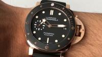 小万鉴表:XF沛纳海682玫瑰金腕表,适合亚洲人佩戴的小尺寸表
