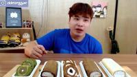 韩国大胃王胖哥, 吃抹茶巧克力蛋糕, 当个主播真幸福