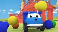 儿童玩具工程车工作视频表演: 推土机 卡车 水泥搅拌车一起建造美丽的房子