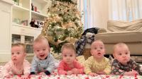 五胞胎宝宝有一个长牙了, 小家伙还不适应, 但是爸爸妈妈乐坏了