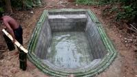 荒野生存 之 生存哥 围绕地下修建美丽的游泳池