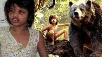 印度女孩从小被猴子养大, 不会说话, 行为举止让人心疼!