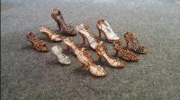 手工铜制迷你鞋挂件, 金属丝灰姑娘鞋, 唯美绝伦