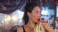 """泰国美女老板娘, 不愧是""""水果西施"""", 这颜值"""