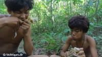 野外生存历险记, 兄弟二人野外吃鸡, 看着就有食欲