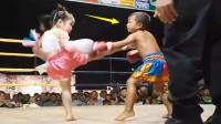 男女对决! 泰国4岁小女孩有多凶猛? 竟将小男孩险些打到怀疑人生