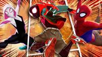 漫威《蜘蛛侠: 平行宇宙》来袭, 《海王》你有本事开门单挑我们六个蜘蛛!