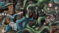 【逍遥小枫】各种被章鱼怪追杀逃亡啊   Lovecraft-Quest(下)