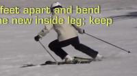 PMTS英文字幕滑雪指南: 弯曲收短内腿, 以获得更大的雪板切雪角度