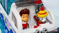 汪汪队巡逻拆箱:终极救援消防车和莱德消防员儿童玩具车