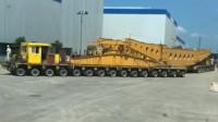 400吨变压器运送专用工程板车虽然超长, 三段式设计转弯超灵活